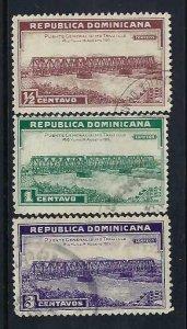 DOMINICAN REPUBLIC 292-94 VFU BRIDGE Z600