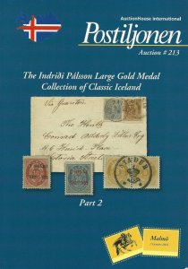 I. Palsson Collection of Classic Iceland, Postiljonen Auction Catalog, Sale 213