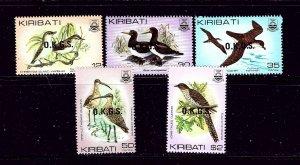 Kiribati O16-20 MNH 1983 Overprints (Birds)