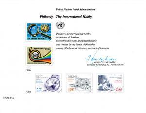 UN SC29 Philately Souvenir Card Mint