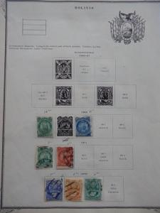 BOLIVIA SMALL EXCELLENT OLD COLLECTION 1869-1878 DR SCHULTZ ESTATE !!8797B