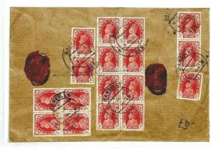 INDIA WW2 Cover 1940 BLOCK FRANKING *Bareilly* Air Mail BANKING {samwells}CW76