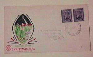 AUSTRALIA FDC UNOFFICIAL TOWN 1962 BANKSTOWN CHRISTMAS CACHET ADDRESSED