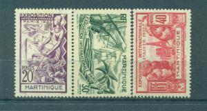 Martinique sc# 180-185 (2) mh cat value $11.20