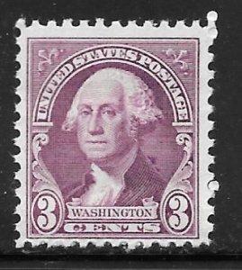 USA 720: 3c Washington (1796), portrait by Gilbert Stuart, MNH, F-VF
