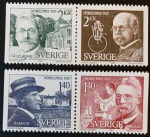 Sweden 1980 #1341-4 MNH. Nobel, pairs