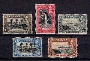 St Lucia 1936 George V Definitive Partial Set