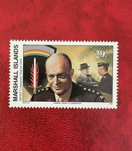 1994 Marshall Islands Stamp SC#478 29c WWII SHAEF Commander Named, MNH