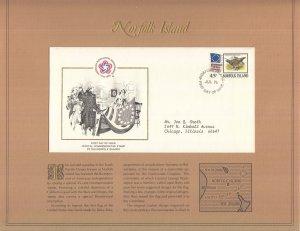 Norfolk Island, Sc 197, FDC, 1976, US Bicentennial, SEE BELOW