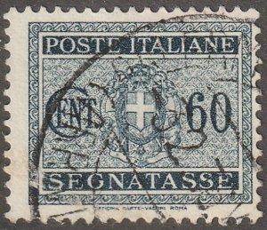 Italy,  Scott#J59,  used, hinged,  60C,   black,/blue, postage due, #J59