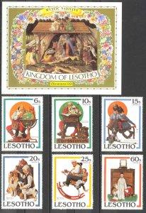 Lesotho Sc# 344-350 MNH 1981 Christmas
