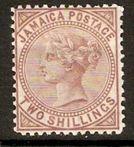 JAMAICA SG14 1875 2/= VENETIAN RED MTD MINT