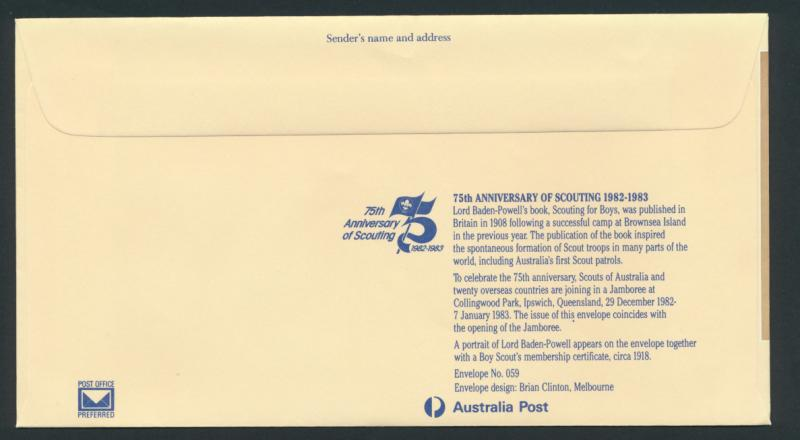 Australia PrePaid Envelope 1982 Centenary of The Ashes