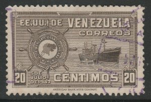 Venezuela 1948-50 20c used South America A4P53F57