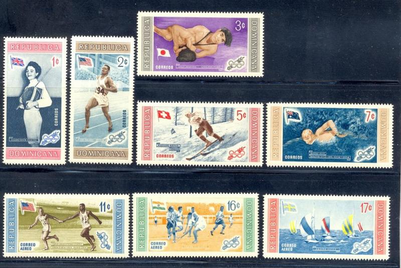 Dominican Republic MNH 501-5, C106=8 Olympic Winners 1958