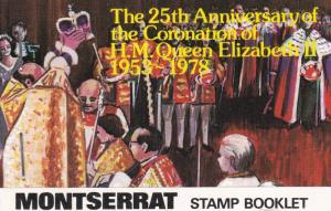 Montserrat # 385-388,. Q Elizabeth Coronation 25th Anniversary, Booklet