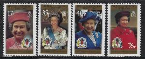 Br Antarctic Territory 1996 Queen's 70th Birthday Sc# 240-43 NH