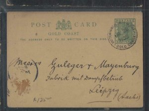 GOLD COAST  (PP1302B) QV 1/2D PSC 1905 FROM VICTORIABORG TO GERMANY WITH MSG