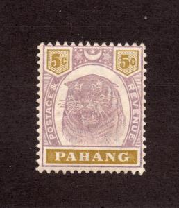 Pahang - SG# 16 MH/ wmk crown CA/  Lot 0517097