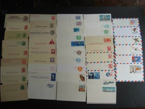 USA stationery 44 different mint postcards Sc UX8 up to 1970s era,worth a look!