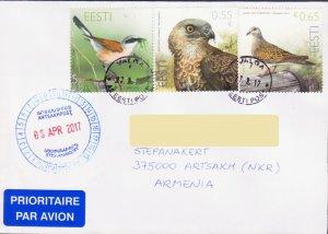 ESTONIA BIRD EAGLE AIR MAIL COVER TO NAGORNO KARABAKH ARMENIA 17556