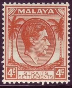 MALAYSIA - Straits Settlements SG280, 4c orange, LH MINT. Cat £19.