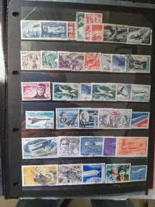 Lot France Poste Aerienne 40 stamps used/unused CV.€ 190 Free shipping