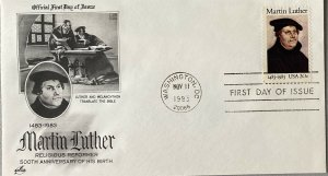 Artcraft 2065 Martin Luther Happy 500th Birthday Religious Reformer