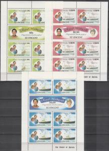 St Vincent #627-32 MNH Sheetlets (S9941L)