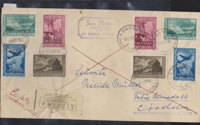 O) 1951 ARGENTINA, FIFTH PLAN -IMPORT AND EXPORT MEASURES, DOLPHIN, EXPRESS SERV