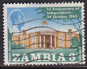 Zambia 22 Hinged Used 1965 Pres. Kaunda & State House, Lusaka
