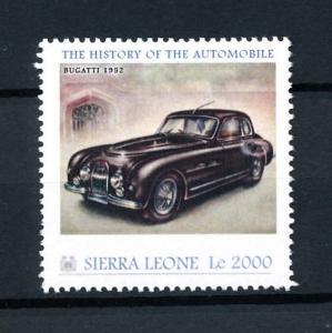 [92804] Sierra Leone 2010 Classic Cars Bucatti 1952 Type 101c  MNH