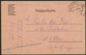 Austria WWI FP101 Pionier Batl Nr9 Feldpost Hand Stamp Soldier Mail 40748
