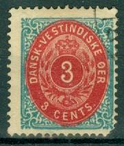 Danish West Indies - 6 Used