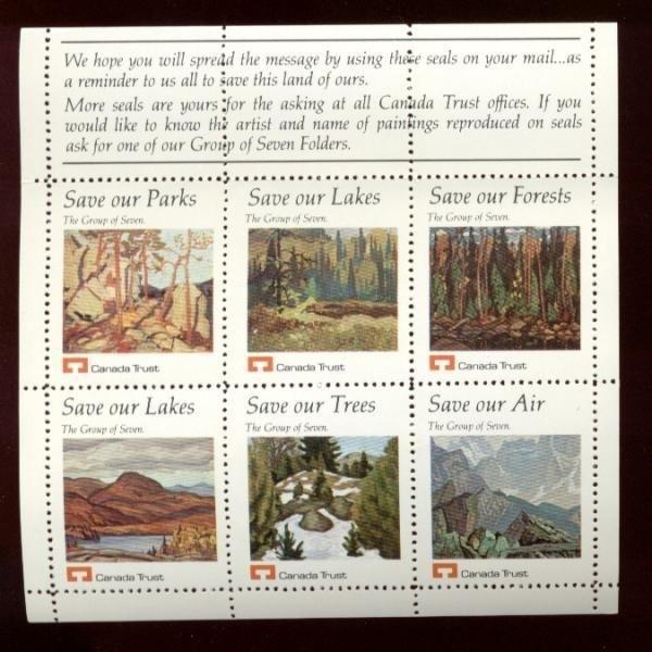 Canada Trust - GROUP OF SEVEN Paintings Poster Stamps 2