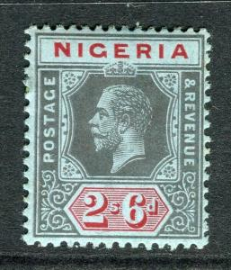 NIGERIA; 1912 early GV Crown CA issue fine Mint hinged Shade of 2s. 6d. value