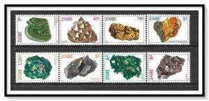 Zaire #1102-1109 Minerals Set MNH