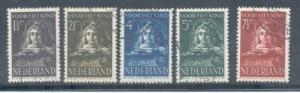 Netherlands Sc B139-3 1941 Child Welfare stamp set used