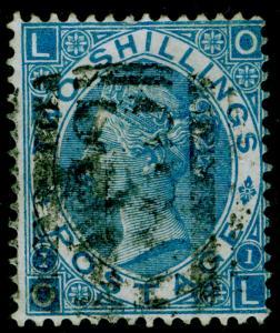 SG118, 2s dull blue, FINE USED. Cat £160. C83 R10 DE JANERIO. OL