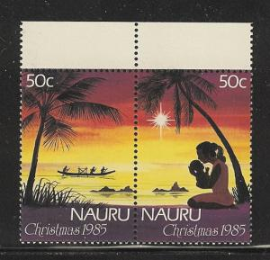 Nauru 1985 Christmas pair mnh scott cat. # 312a