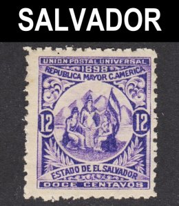 El Salvador Scott 182 wtmk 117 F+ mint OG H 1st issue.