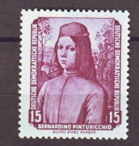 J22278 Jlstamp 1955 germany ddr set mnh #274 verticle perf bend