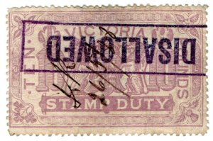 (I.B) Australia - Victoria Revenue : Stamp Duty £10 (Disallowed)