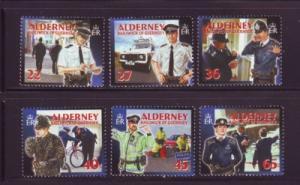 Alderney Sc 215-0 2003 Island Police stamp set mint NH