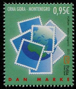 HERRICKSTAMP NEW ISSUES MONTENEGRO Sc.# 390 Stamp Day 2015