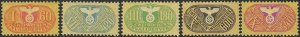 Stamp Germany Revenue WWII 3rd Reich War War Medical Invalid Selection MNG