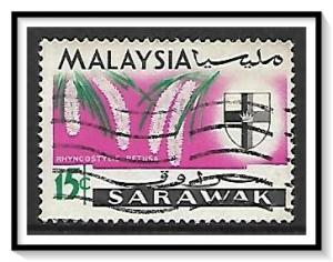 Sarawak #233 State Crest & Orchids Used