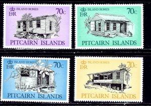Pitcairn Is 285-88 MNH 1987 Island Homes    (ap2275)