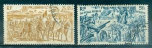 French India #C8, C9  Used  Scott $4.00