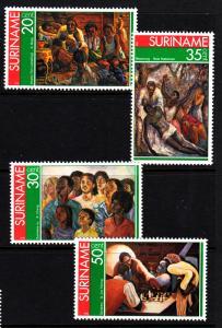 Suriname MNH 454-7 Paintings 1976